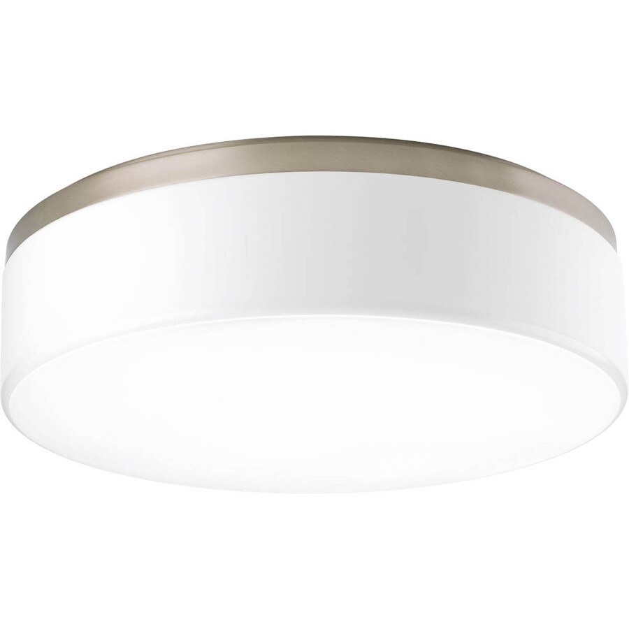 Progress Lighting Maier Led 18-in W Brushed Nickel LED Flush Mount Light