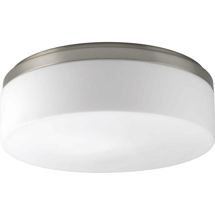 Progress Lighting Maier Led 14-in W Brushed Nickel LED Flush Mount Light