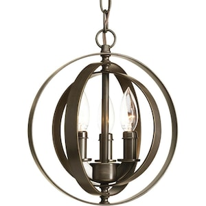 Progress Lighting Equinox Antique Bronze Single Transitional Orb Pendant Light At Lowes