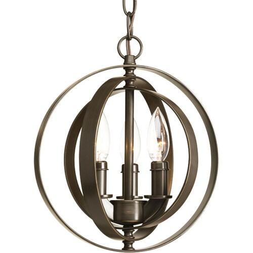 Progress Lighting Equinox Antique Bronze Single Transitional Orb Pendant Light At Lowes