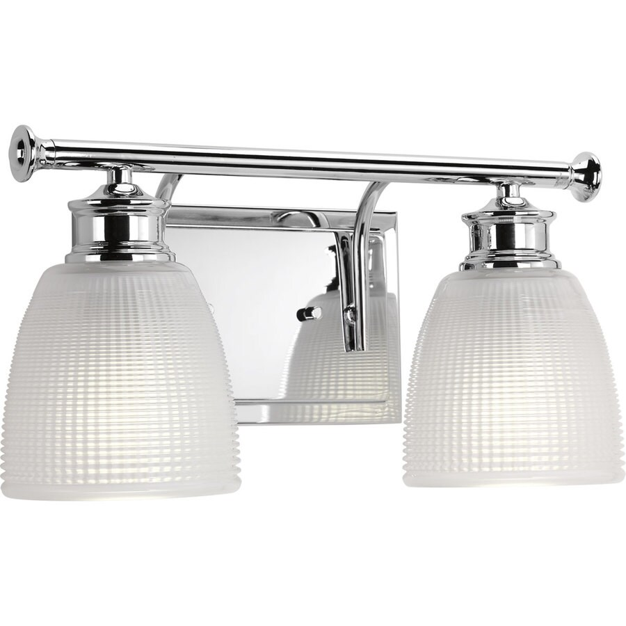 Progress Lighting Lucky 2-Light Polished Chrome Dome Vanity Light