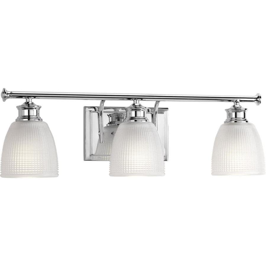 Progress Lighting Lucky 3-Light 7.625-in Polished Chrome Dome Vanity Light