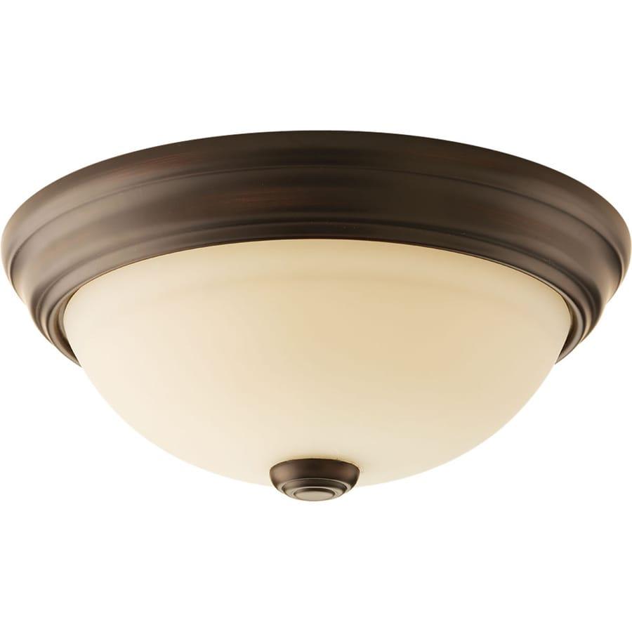 Progress Lighting Spirit 10.75-in W Antique Bronze Standard Flush Mount Light