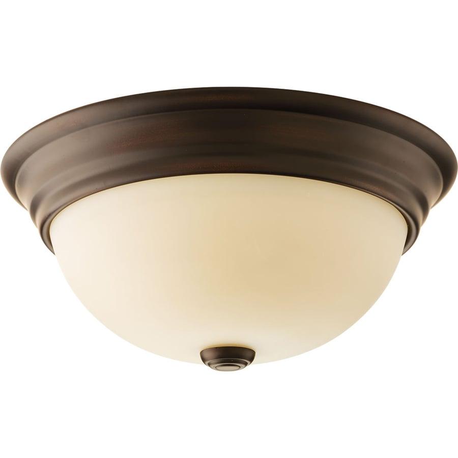 Progress Lighting Spirit 12.75-in W Antique Bronze Ceiling Flush Mount Light