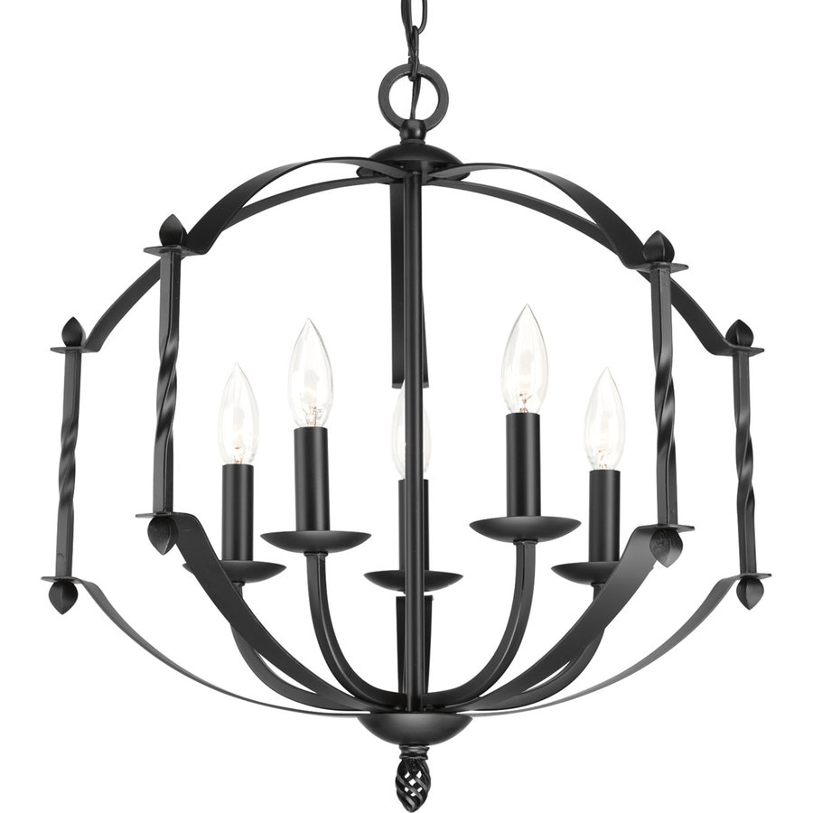 Shop Progress Lighting Greyson In Light Black Rustic Candle - Black kitchen lighting collections