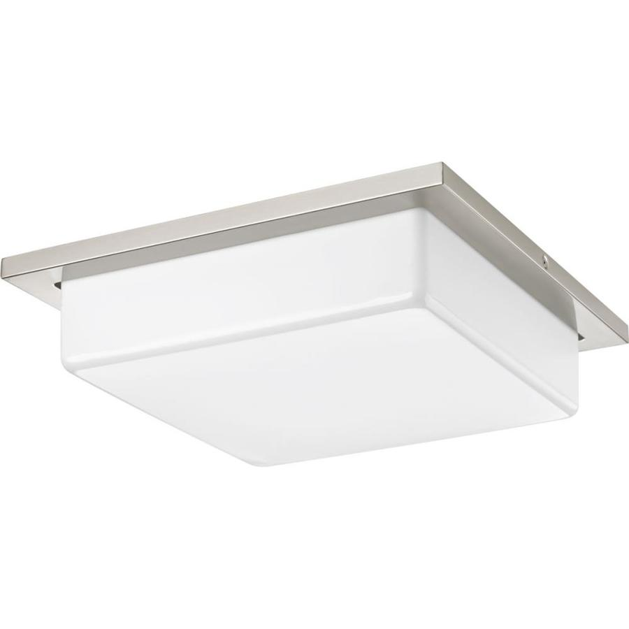 Progress Lighting Transit 14-in W Brushed Nickel Integrated Flush Mount Light