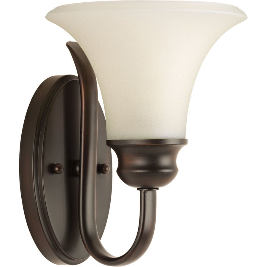 Progress Lighting Applause 1-Light 11.5-in Antique Bronze Bell Vanity Light