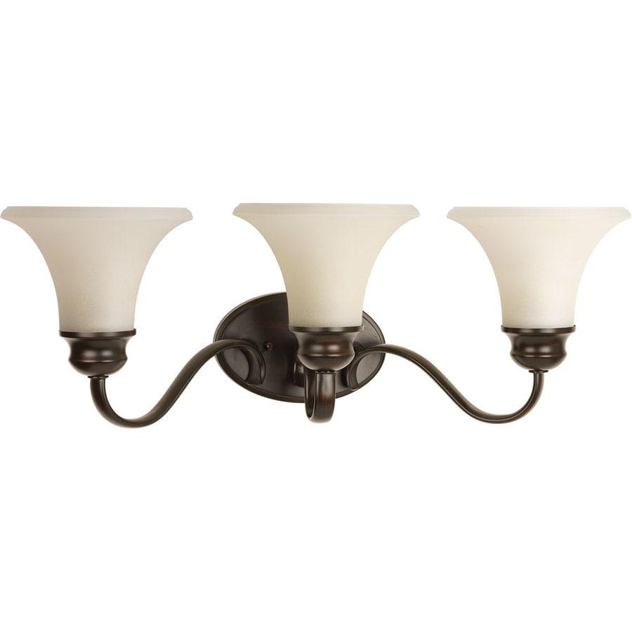 Progress Lighting Applause 3-Light 8.5-in Antique Bronze Bell Vanity Light