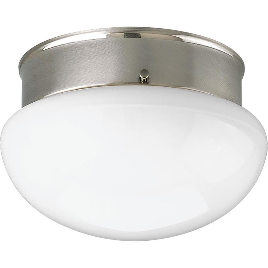Progress Lighting Fitter 7.5-in W Brushed nickel LED Flush Mount Light ENERGY STAR