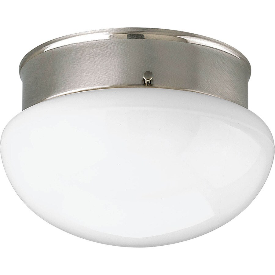 Progress Lighting Fitter 9.5-in W Brushed Nickel Ceiling Flush Mount Light
