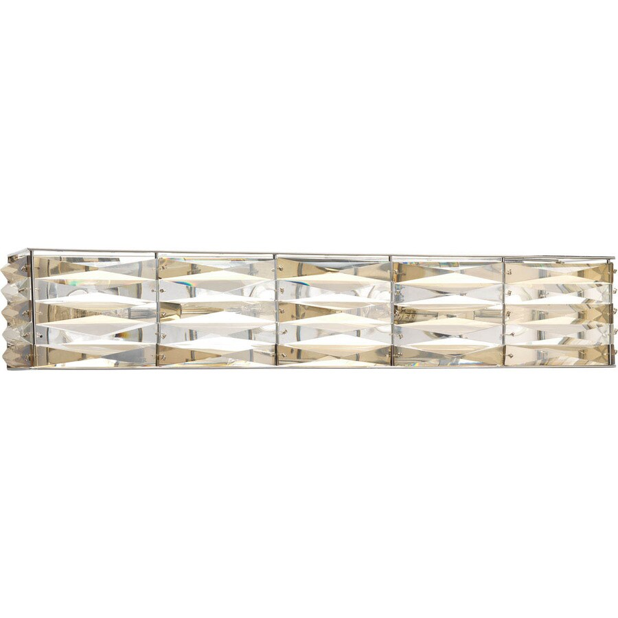 Progress Lighting The Pointe 4-Light 4.625-in Polished chrome Rectangle Vanity Light