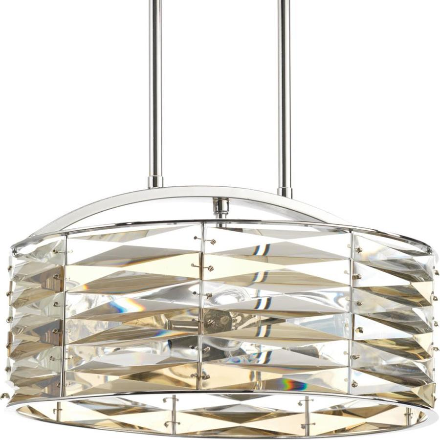 Progress Lighting The Pointe 14.375-in Polished Chrome Mini Clear Glass Geometric Pendant