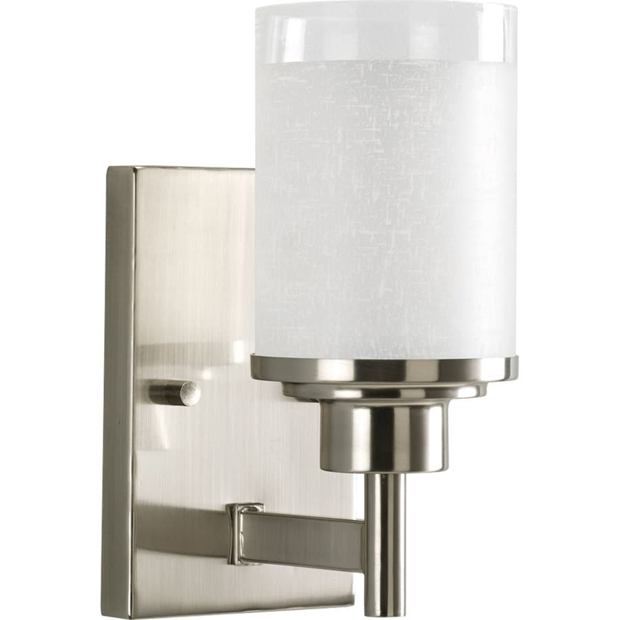 Progress Lighting Alexa 1-Light Brushed Nickel Bell Vanity Light