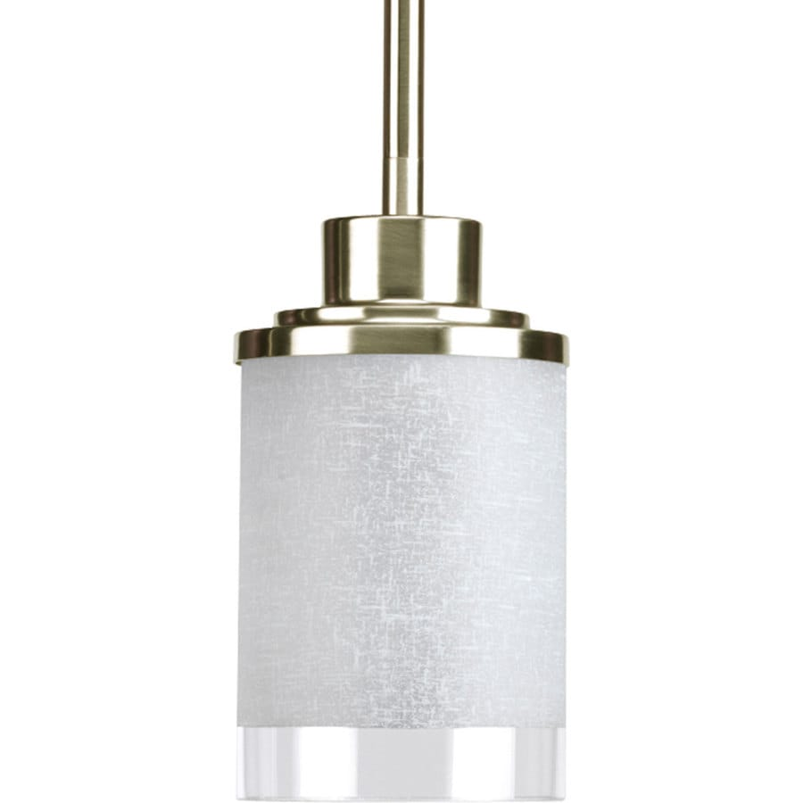Shop Progress Lighting Alexa In Brushed Nickel Mini Bell Pendant