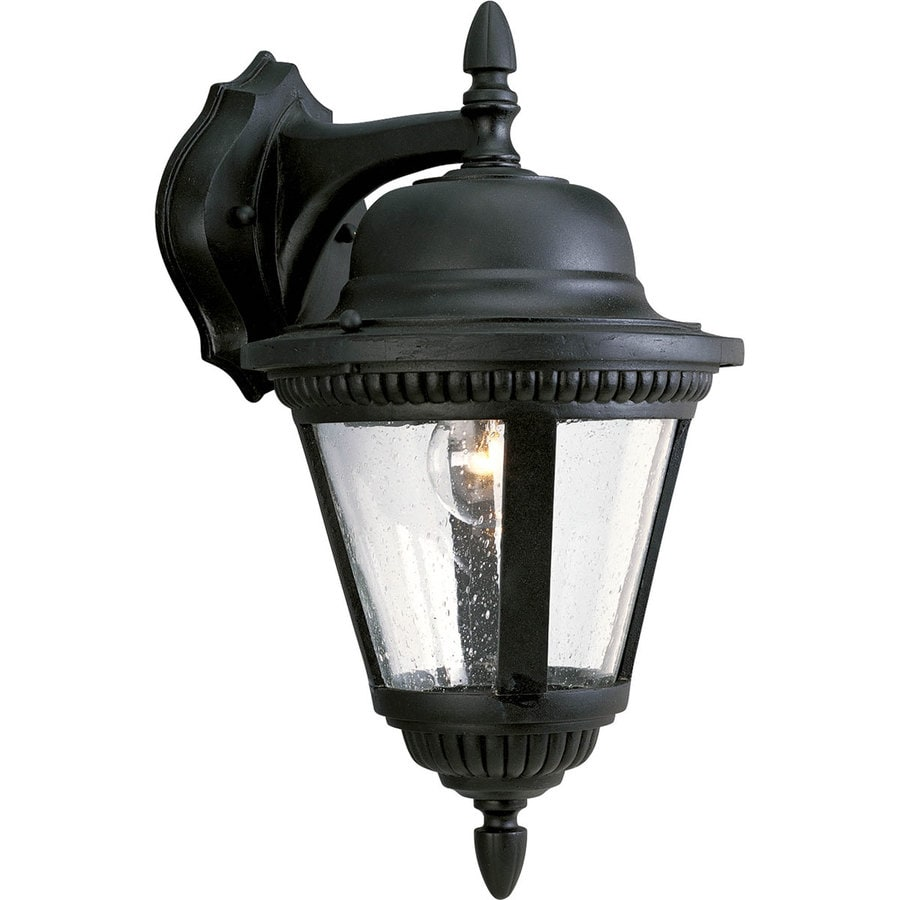 Progress Lighting Westport 15.8125-in H Textured Black Outdoor Wall Light