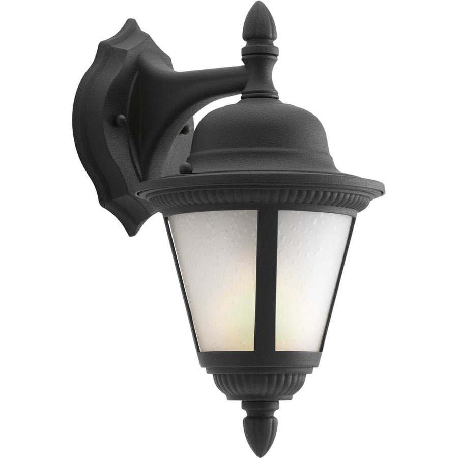 Progress Lighting Westport 12.625-in H Textured Black LED Outdoor Wall Light