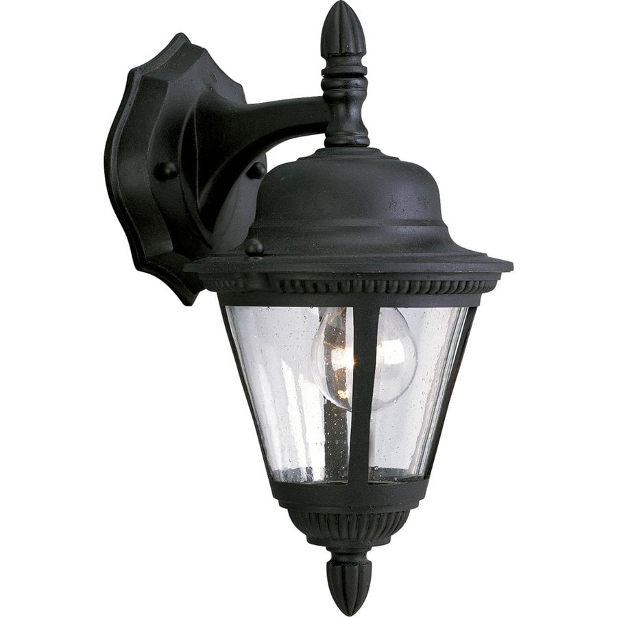 Progress Lighting Westport 12.625-in H Textured Black Outdoor Wall Light