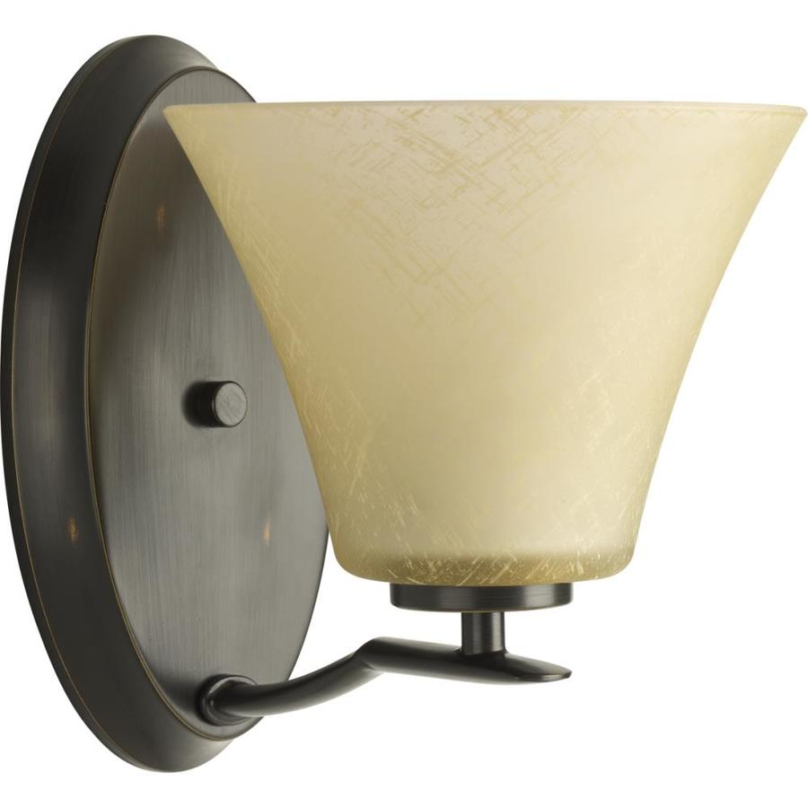 Progress Lighting Bravo 1-Light 9-in Antique bronze Bell Vanity Light