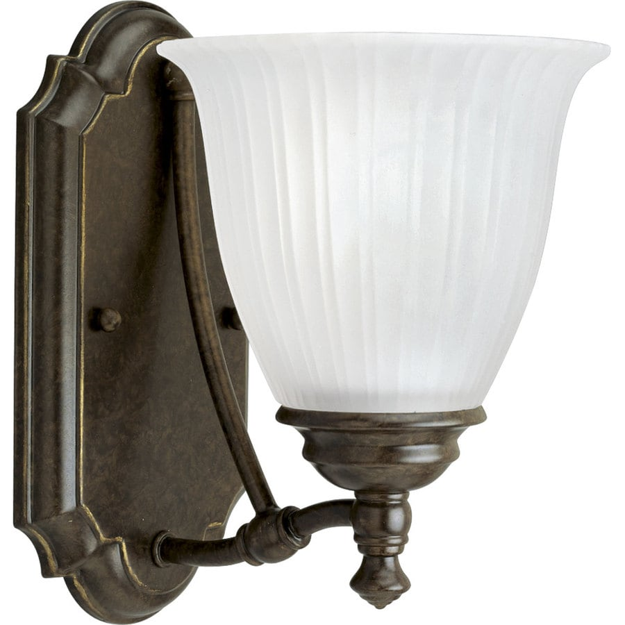 Progress Lighting Renovations 1-Light 9-in Forged bronze Bell Vanity Light
