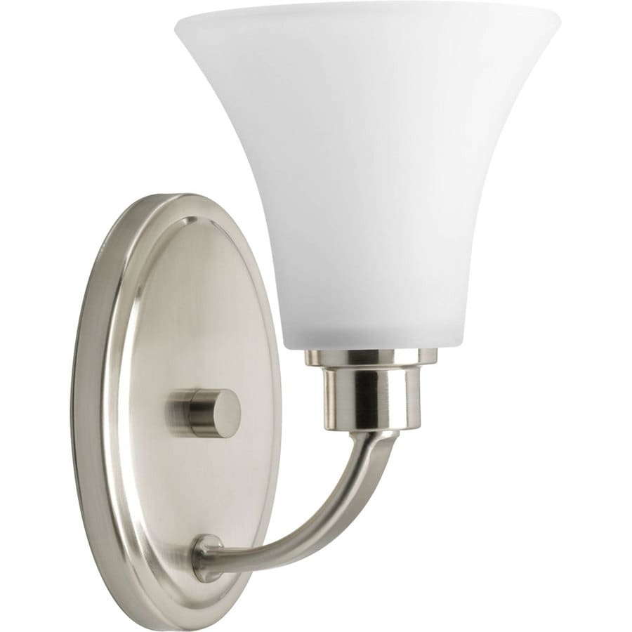 Shop progress lighting joy 1 light 6 in brushed nickel for 6 light bathroom vanity light