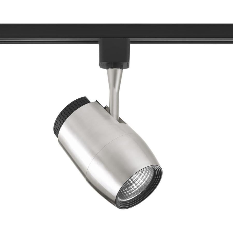 Led Track Lighting Brushed Nickel: Progress Lighting LED Track 1-Light Dimmable Brushed