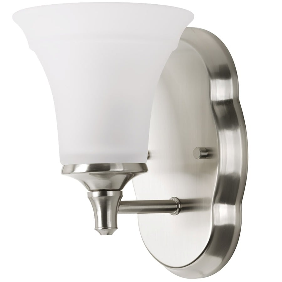 delta bathroom lighting shop delta lorain 1 light 6 in brushed nickel bell vanity 12655
