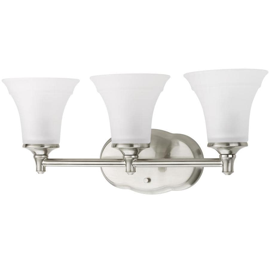DELTA Lorain 3-Light 8.75-in Brushed Nickel Bell Vanity Light
