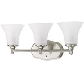 DELTA Lorain 3-Light Nickel Transitional Vanity Light