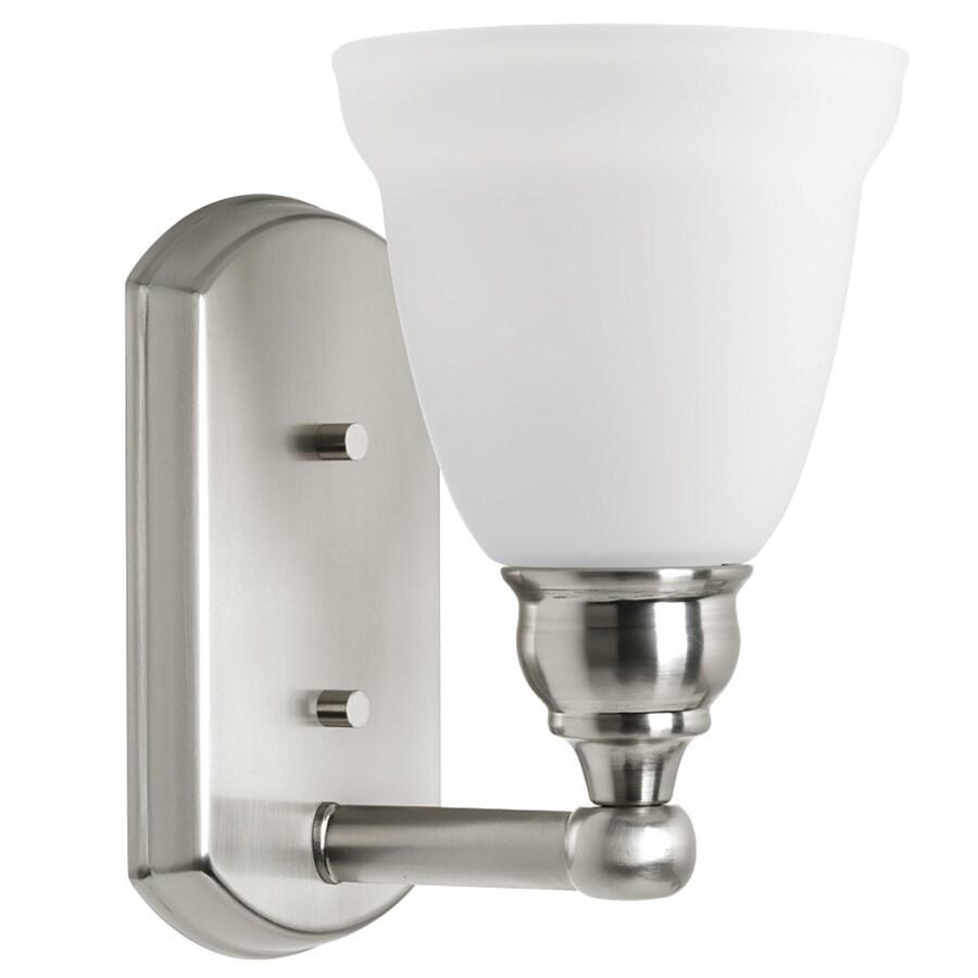 DELTA Windemere 1-Light 9.125-in Brushed nickel Bell Vanity Light