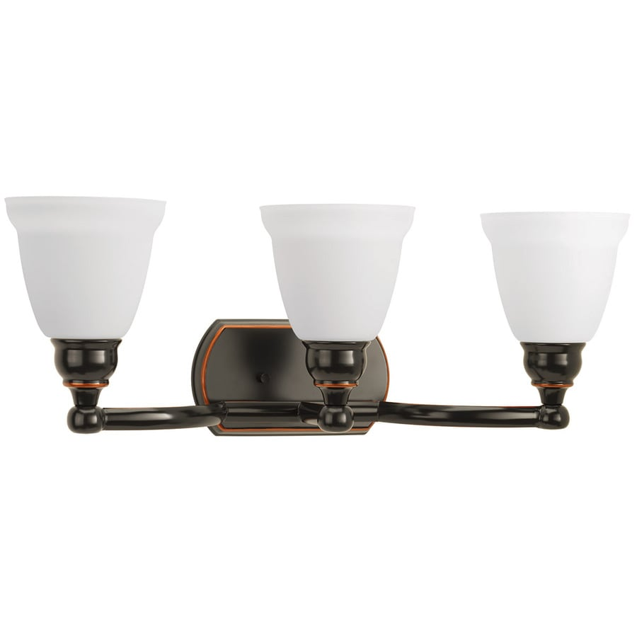 DELTA Windemere 3 Light 8.8125 In Oil Rubbed Bronze Bell Vanity Light