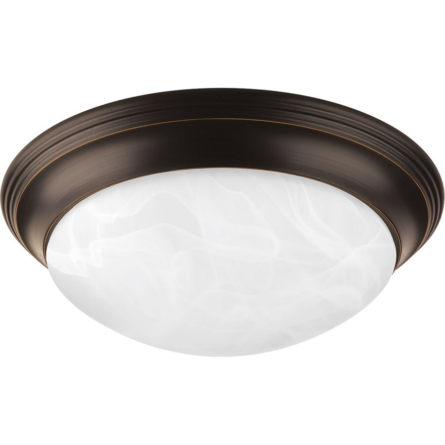 Progress Lighting Melon Frosted Glass Flush Mount Fluorescent Light ENERGY STAR (Common: 1.5-ft; Actual: 14-in)