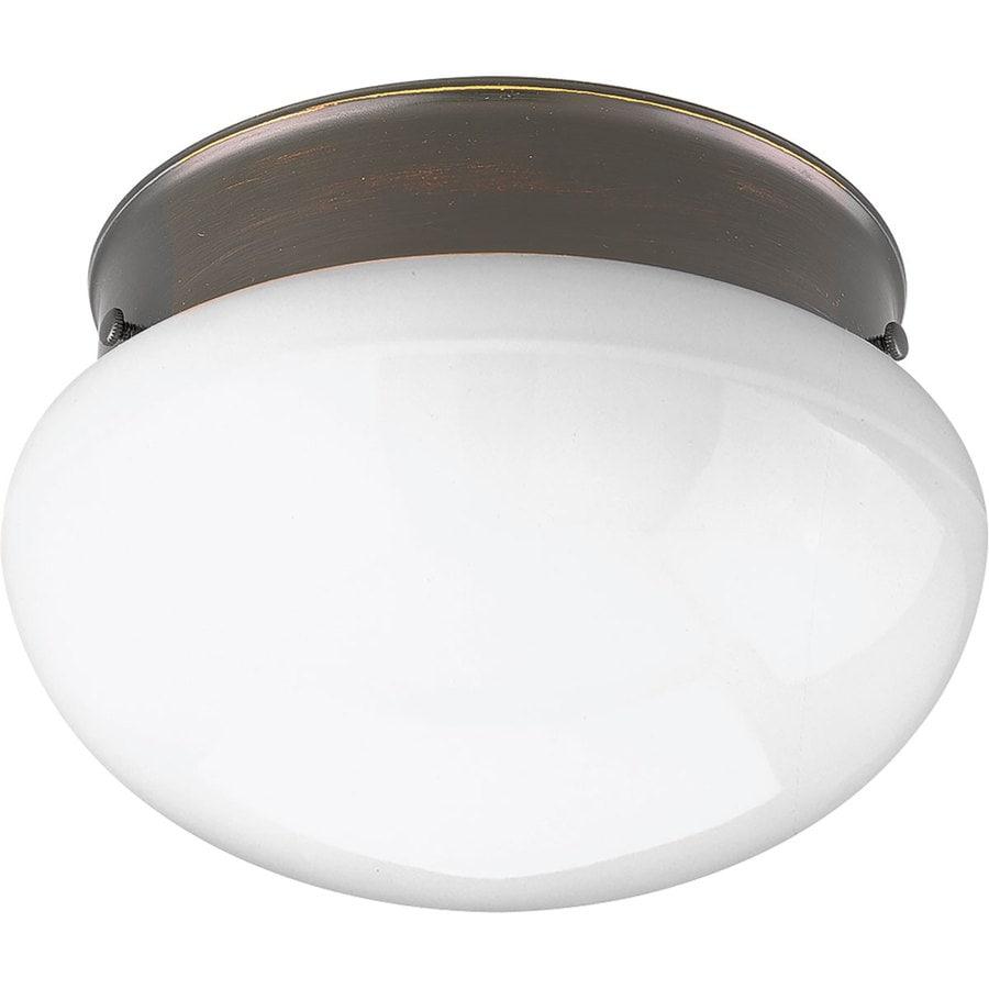 Progress Lighting Fitter 7.5-in W Antique Bronze LED Flush Mount Light
