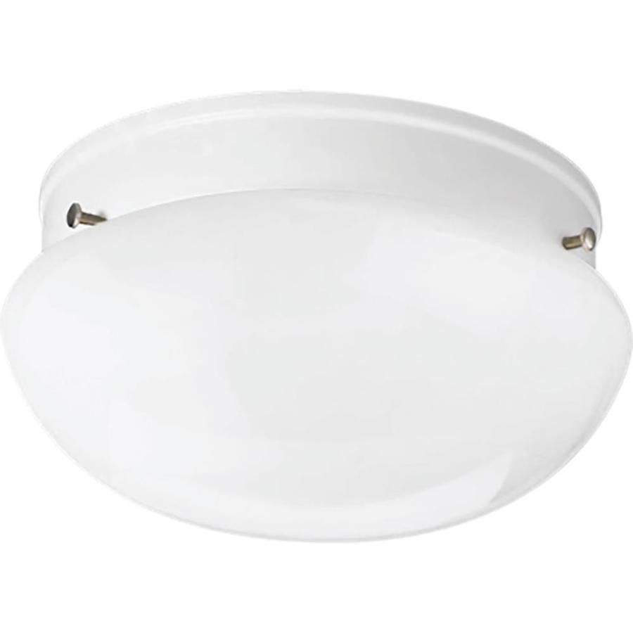 Progress Lighting Fitter 7.5-in W White Integrated Flush Mount Light