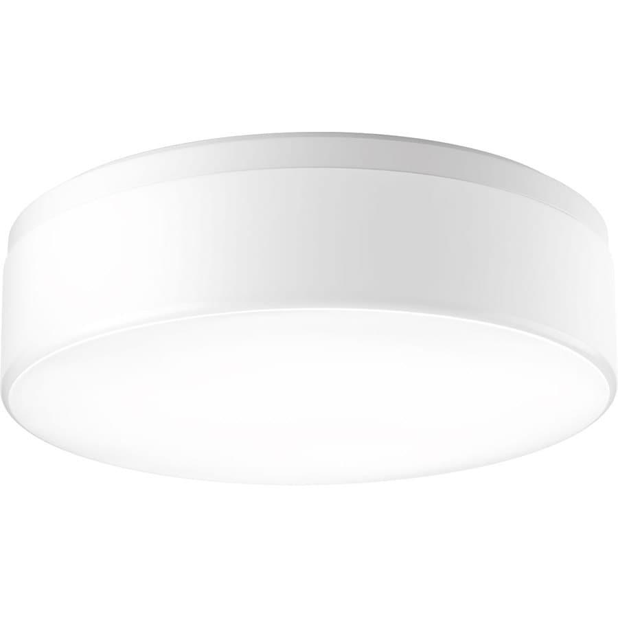 Progress Lighting Maier Led 18-in W White Integrated Flush Mount Light