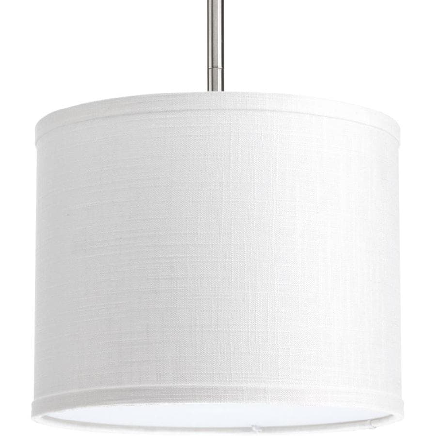 Progress Lighting Markor 8-in H 10-in W Summer Linen Fabric Cylinder Pendant. Includes shade only  sc 1 st  Loweu0027s & Shop Progress Lighting Markor 8-in H 10-in W Summer Linen Fabric ... azcodes.com