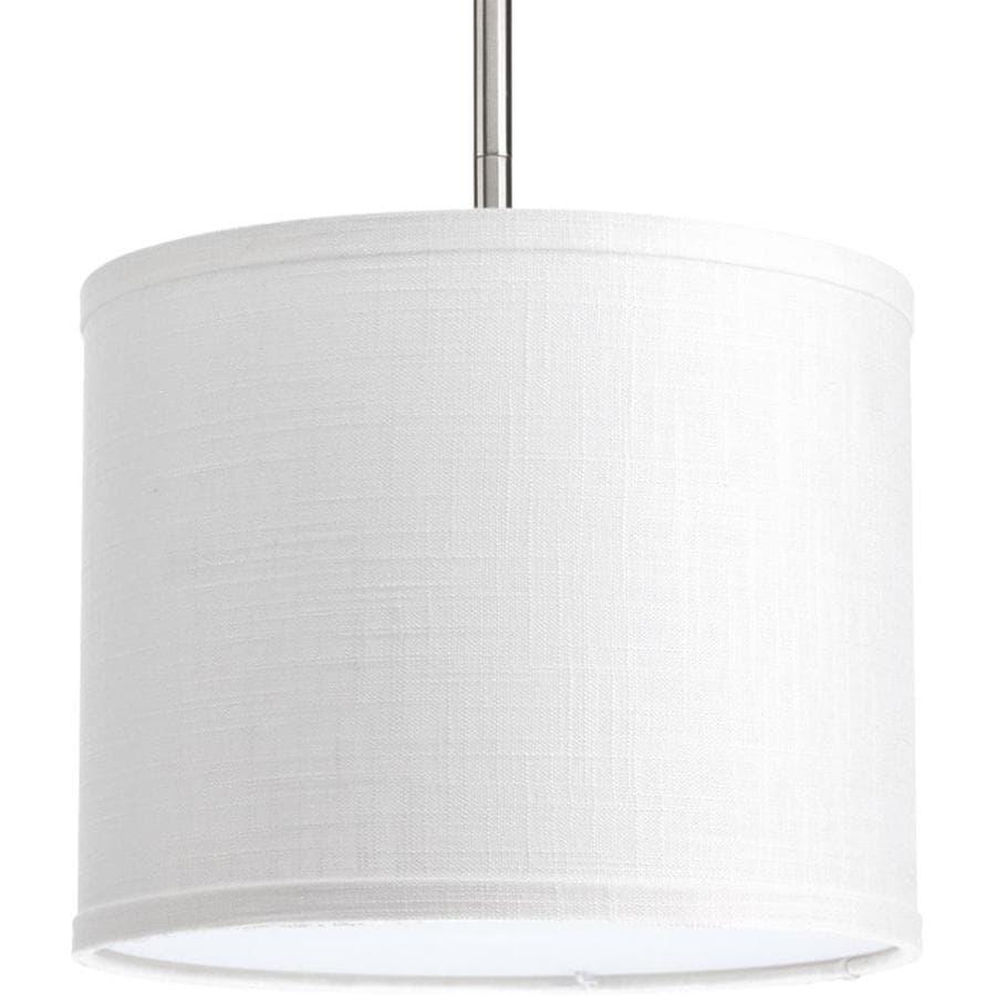 Progress Lighting Markor 8-in H 10-in W Summer Linen Fabric Cylinder Pendant Light Shade