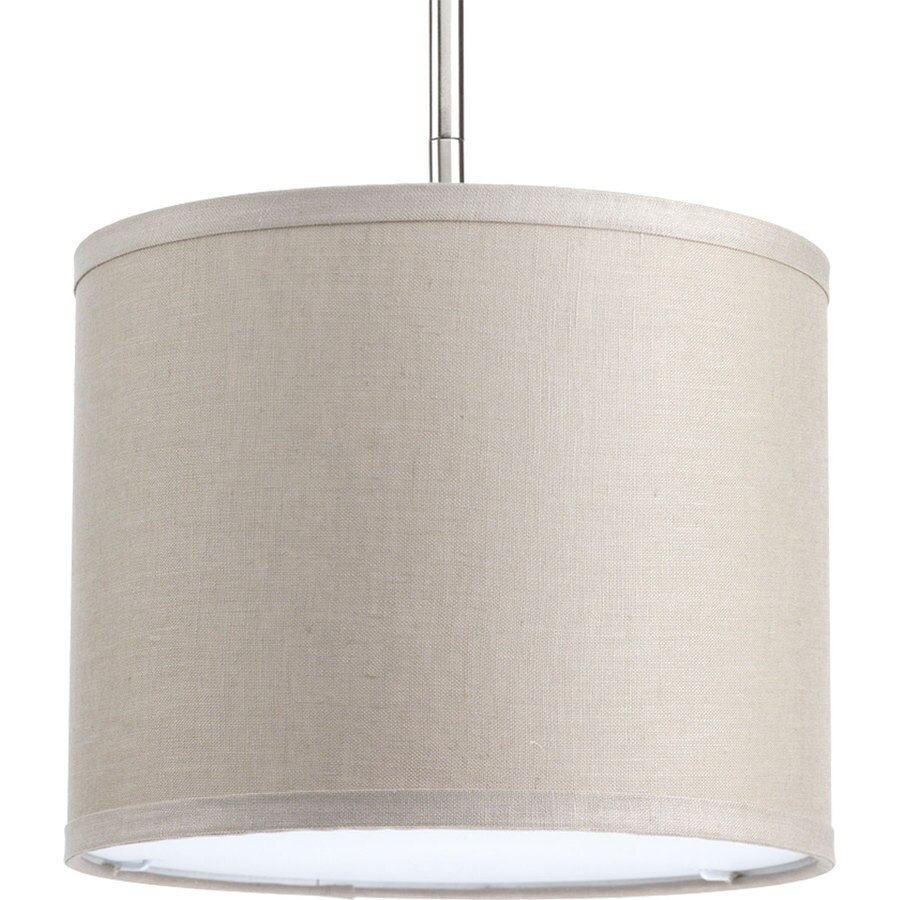 Progress Lighting Markor 8-in H 10-in W Harvest Linen Fabric Cylinder Pendant Light Shade