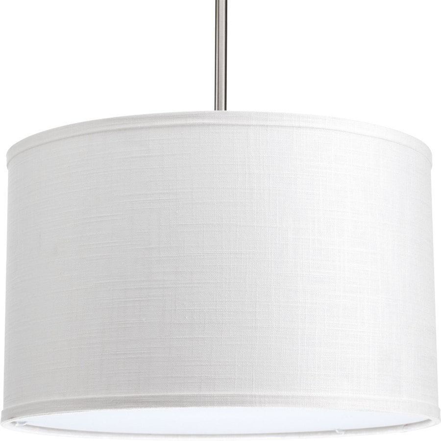 Progress Lighting Markor 10-in H 16-in W Summer Linen Fabric Cylinder Pendant Light Shade