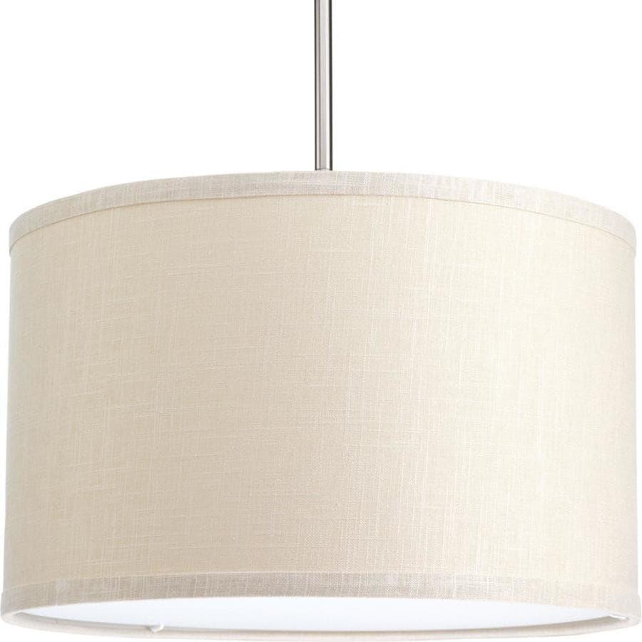 Progress Lighting Markor 10-in H 16-in W Khaki Fabric Cylinder Pendant Light Shade