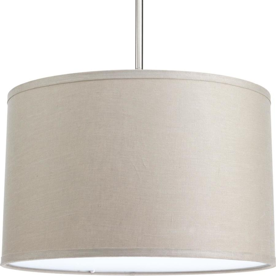 Progress Lighting Markor 10-in H 16-in W Harvest Linen Fabric Cylinder Pendant Light Shade