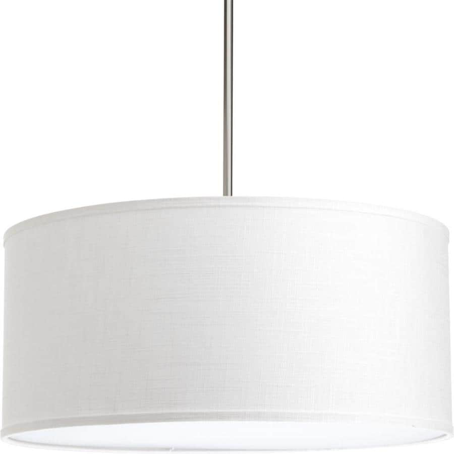 Progress Lighting Markor 10-in H 22-in W Summer Linen Fabric Cylinder Pendant Light Shade