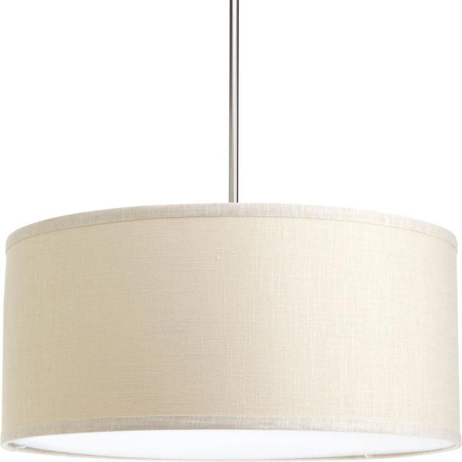 Progress Lighting Markor 10-in H 22-in W Khaki Fabric Cylinder Pendant Light Shade