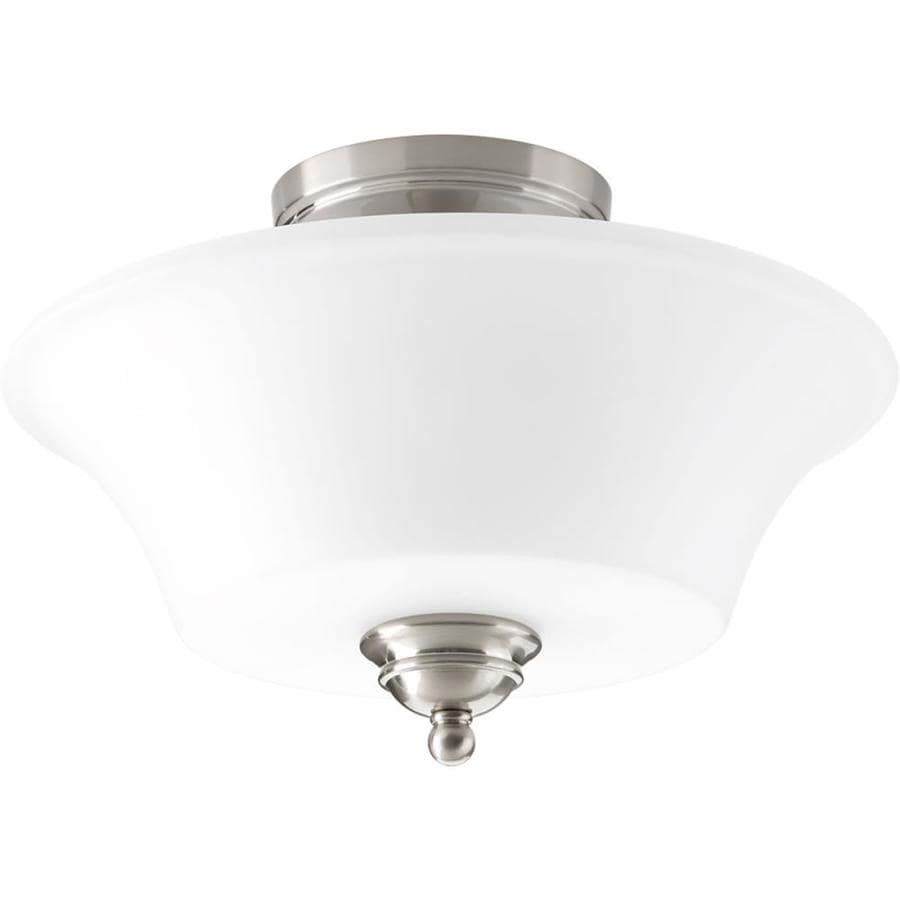 Progress Lighting Applause 14-in W Brushed Nickel Flush Mount Light