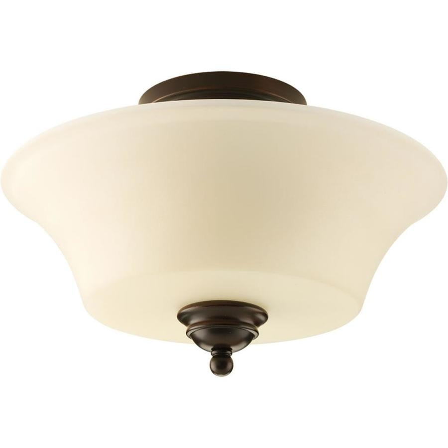 Progress Lighting Applause 14-in W Antique Bronze Standard Flush Mount Light