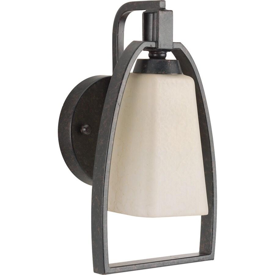 Progress Lighting Ridge 6.25-in W 1-Light Espresso Arm Wall Sconce