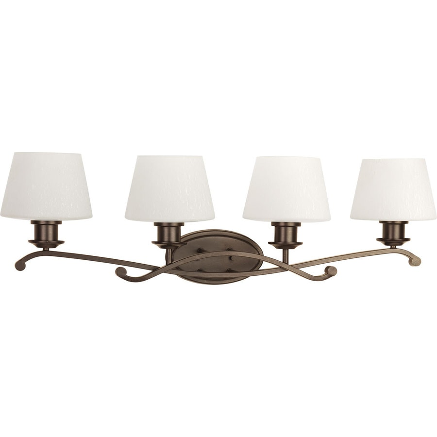 Progress Lighting Club 4-Light 10-in Antique Bronze Bell Vanity Light