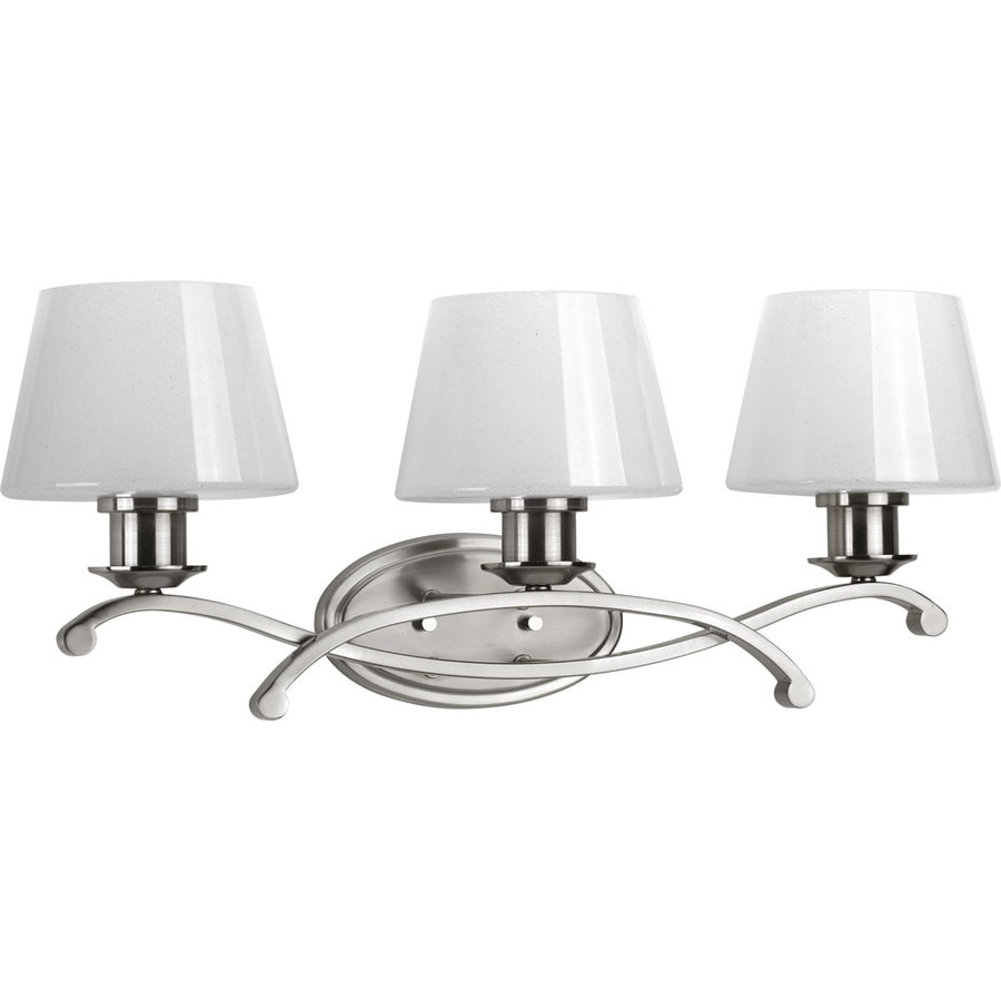 Progress Lighting Dazzle 3-Light 10-in Brushed nickel Bell Vanity Light