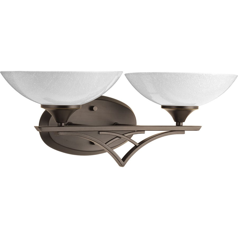 Progress Lighting Prosper 2-Light 7.5-in Antique Bronze Bowl Vanity Light
