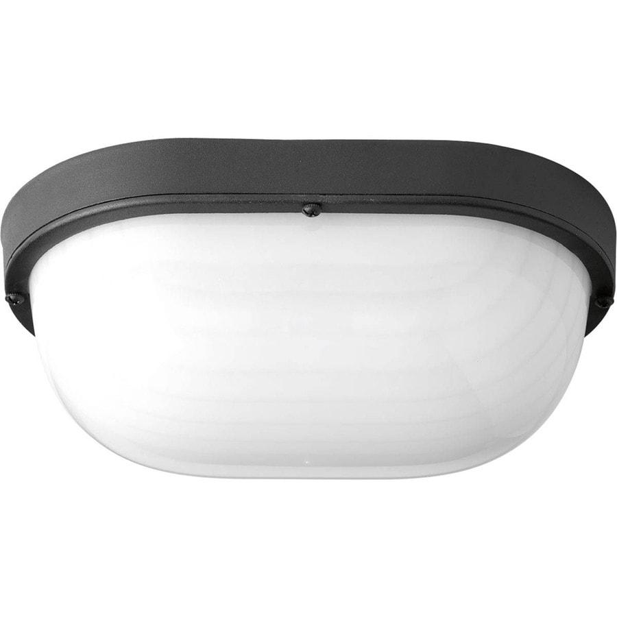 Progress Lighting Bulkheads Led 10.5-in H Led Black Outdoor Wall Light ENERGY STAR