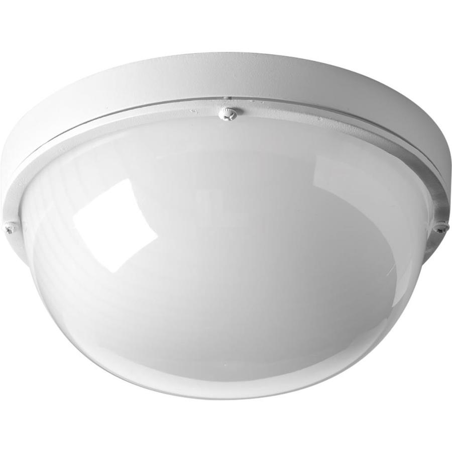 Progress Lighting Bulkheads Led 4.375-in H Led White Outdoor Wall Light ENERGY STAR